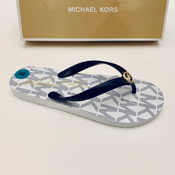082956c368862d Michael Kors Shoes | Jet Set Navy Flip Flopssz8nwt | Poshmark